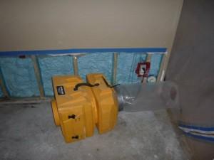 Water Damage Restoration Of Downstiars Room