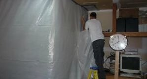 Vapor Barrier Installation For Mold Removal Job