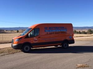 911 Restoration Denver Water Removal Van